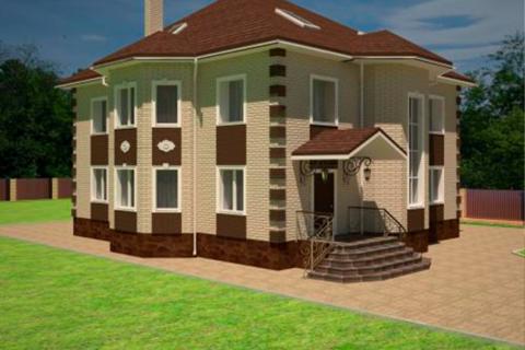 Визуализация фасада дома, Воскресенск