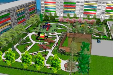 Архитектурно-планировочное решение для Детского Сквера